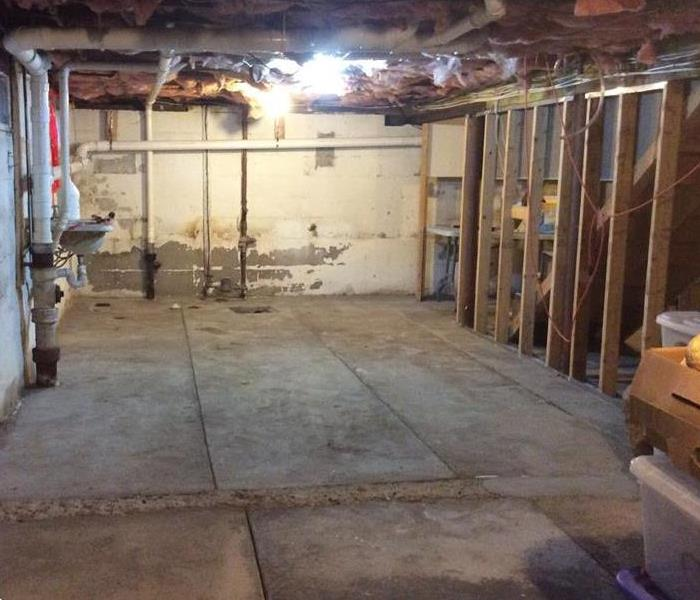 Water Damage - Basement After